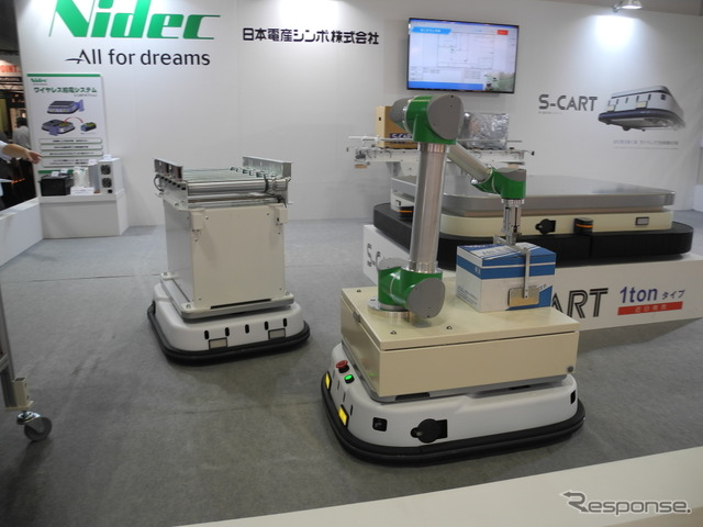 "Nidec-shimpo Japan unattended transport truck ""S-CART"""