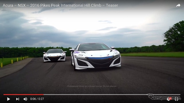 100 Pikes Peak international Hillclimb racing two new Acura (Honda) NSX