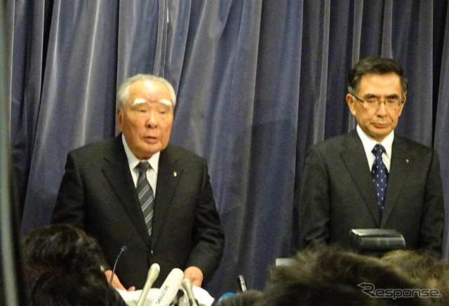 Osamu Suzuki and Toshihiro Suzuki meeting at the Japanese Ministry of Land, Infrastructure, Transport and Tourism