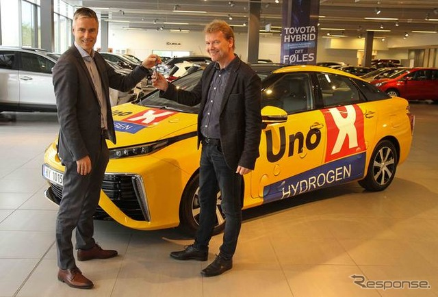 Toyota MIRAI was delivered in Norway No. 1