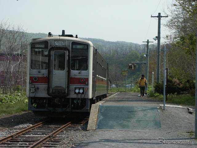 Line rumoi rumoi-mashike is abolished in December decided to formally Mashike station rumoi main line's photos