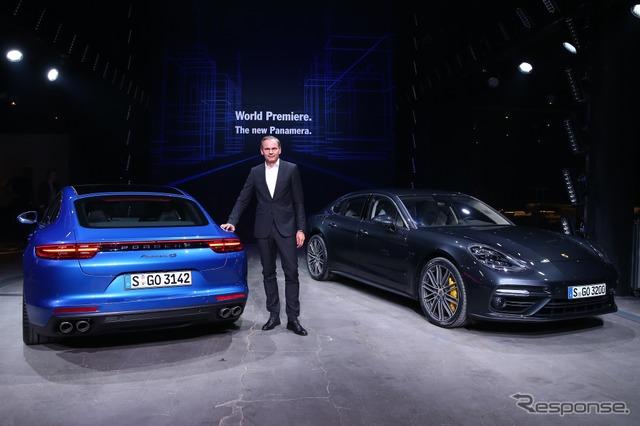 New Porsche Panamera presentation Left 4 S the people's Porsche CEO, Oliver Blume said,