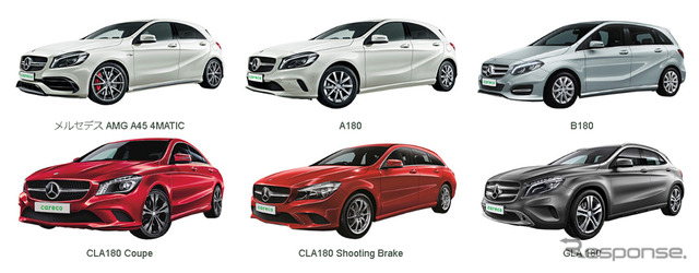 Mercedes careco, car sharing Club to introduce six models