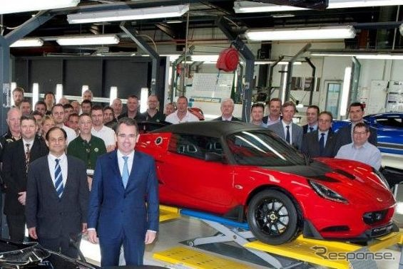 Lotus Elise Cup 250 production was started in the United Kingdom head office factory