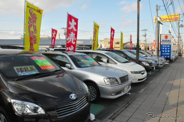 Used car dealerships (the reference image).
