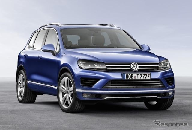 2014 Volkswagen Touareg model.