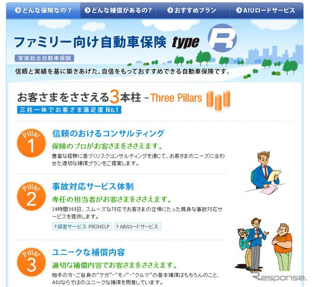 AIU insurance (WEB site)