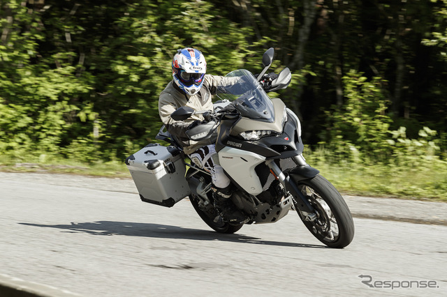 You ride the Ducati Multistrada 1200 Enduro thoroughly in fast, winding, paved road, street