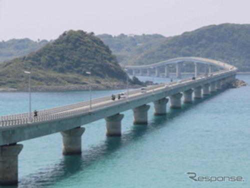 JAF Happy Bike! Scenic touring No. 5 bullet Akiyoshi-skyline-tsunoshima Island Bridge Division