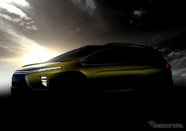 The small crossover MPV concept car Mitsubishi plans to unveil at Indonesia International Auto Show