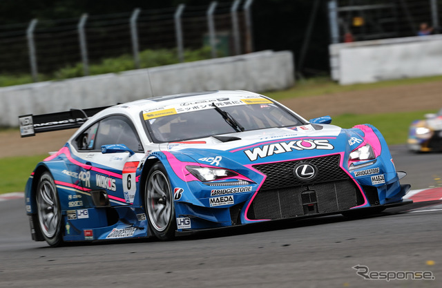 # 6 RC F won the pole in the GT500 class