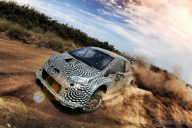 Yaris WRC development test
