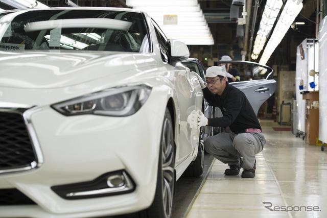 Nissan's Tochigi Plant where the Infiniti Q60 is manufactured