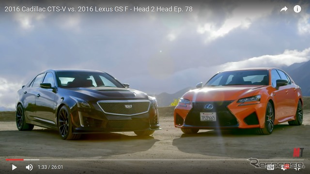 A comparison of the Cadillac CTS-V and Lexus GS F (Motor Trend)