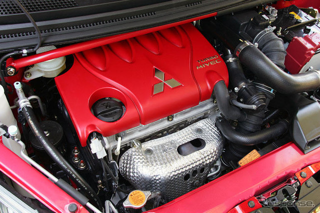 Mounted on a Mitsubishi Colt Ralliart turbo engine (the reference image)