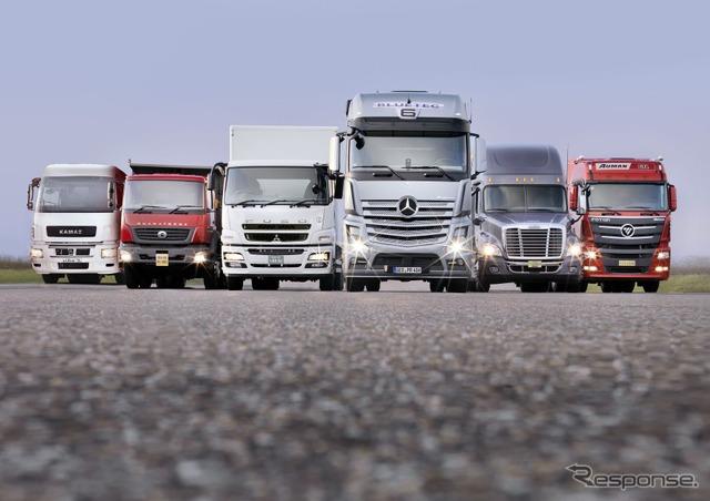 ダイムラーグループの大型トラック