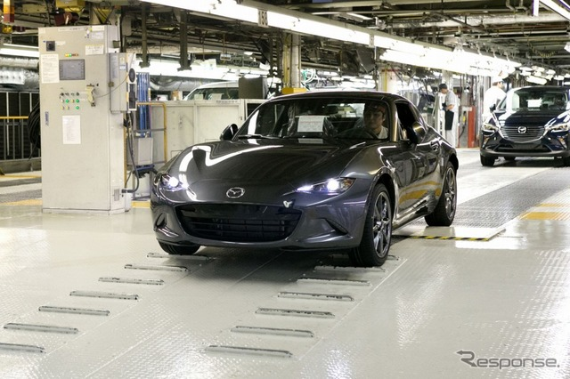 The first Mazda MX-5 RF (Roadster RF) in production (European model)