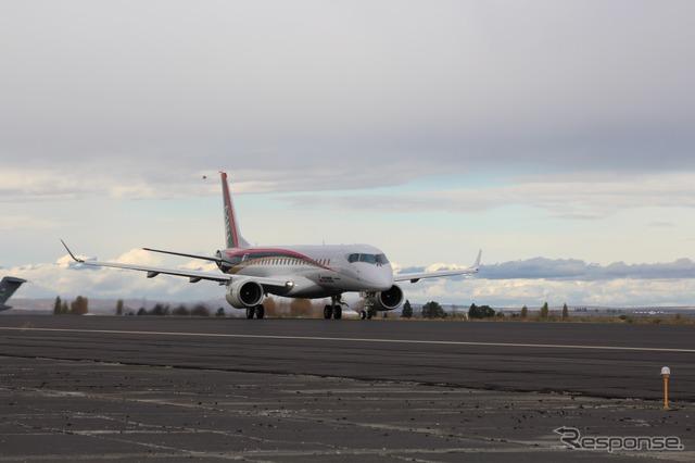MRJ takes off at Grand County International Airport (image courtesy of Mitsubishi)
