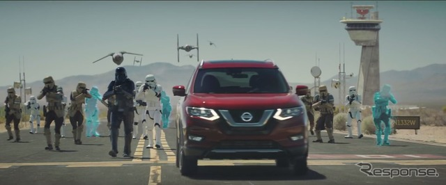 Teaser image of Nissan's Rogue One Star Wars Limited Edition