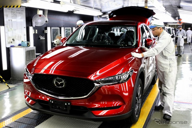 First unit of new CX-5 (Japanese model) rolls off assembly line