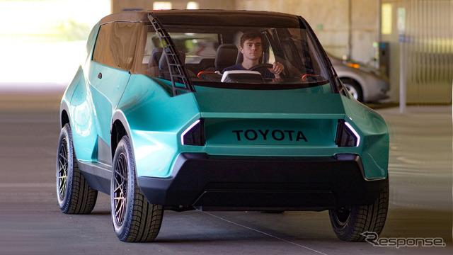 This image is of the uBox concept car, designed by Toyota and students from the US's Clemson University's international automotive research center