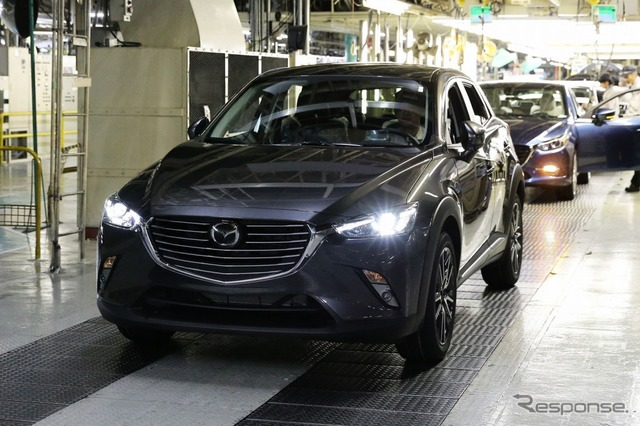 CX-3 coming off the line at Hofu plant
