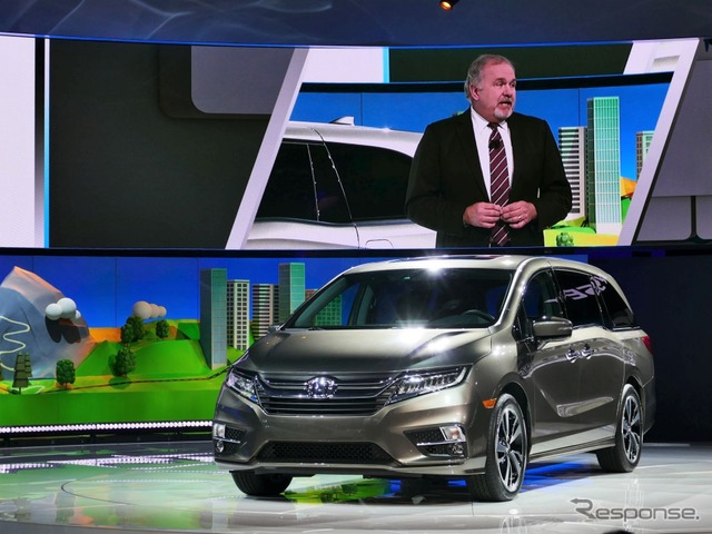 Honda unveils new Odyssey for US