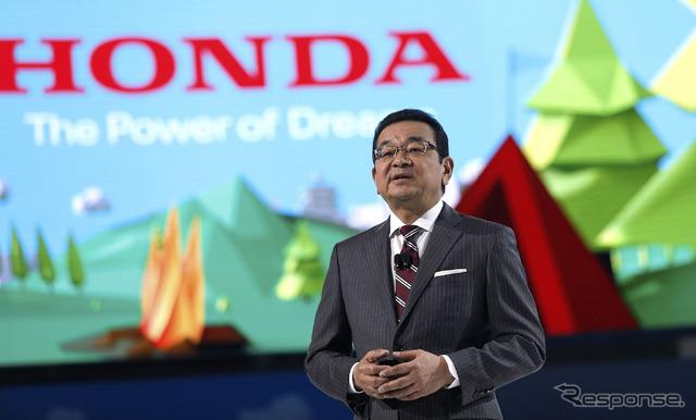 Honda's President Takahiro Hachigo (2017 North American International Auto Show)   (c) Getty Images