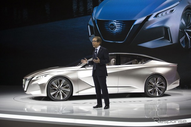 Nissan Vmotion 2.0 at the 2017 North American International Auto Show