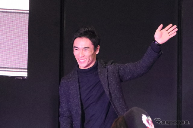 Takuma Sato at talk event