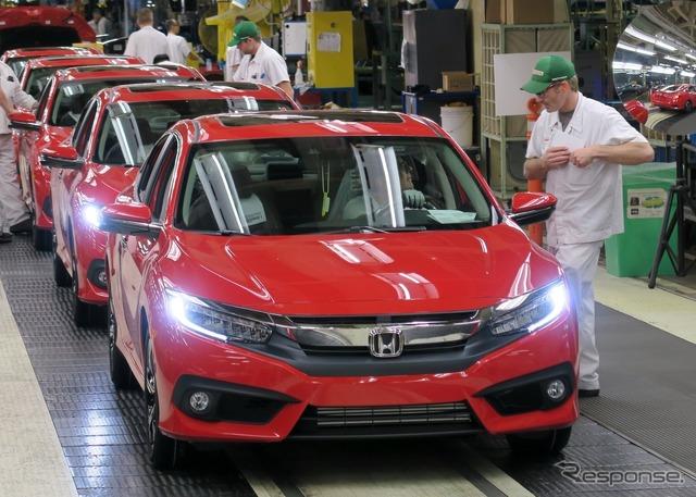 New Civic Sedan built at Honda's Canada plant