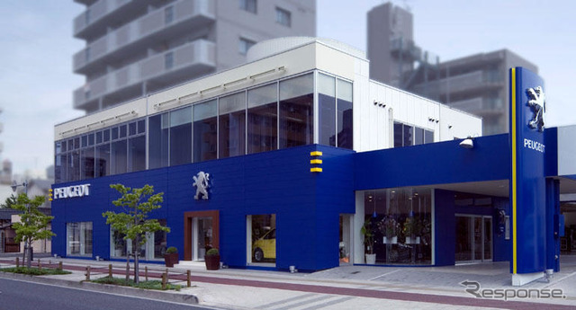 Adoption of Peugeot's new store opened in Hiroshima blue box