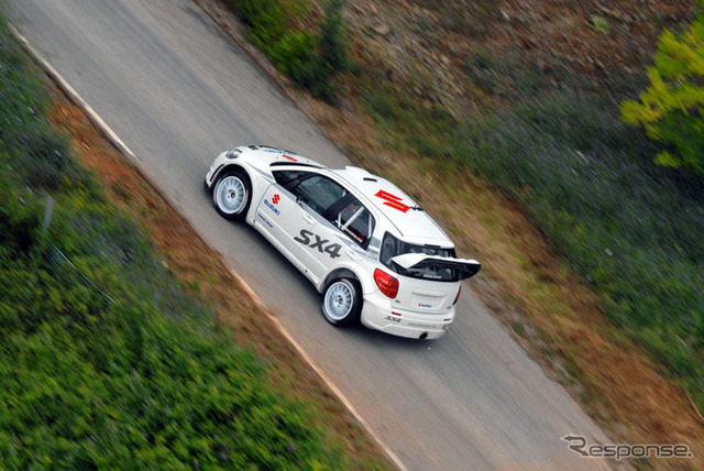 WRC spec-work testing the Suzuki SX4