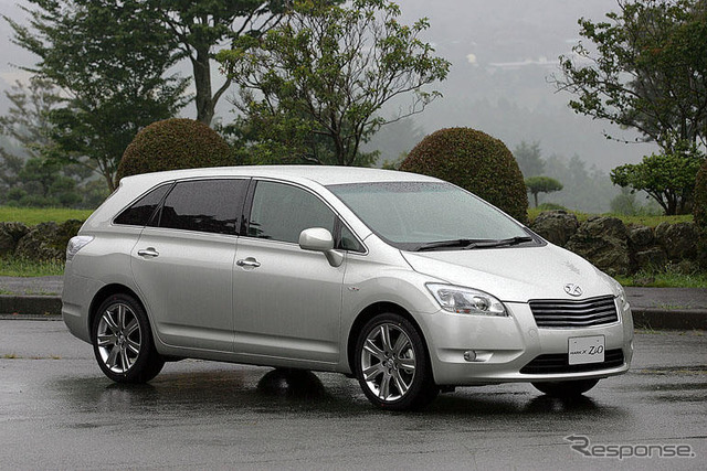 [Toyota mark X Zio announcement] is a common point and the mark X?