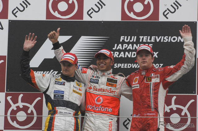 [Japan GP F1] race... In the rain win 4 Hamilton