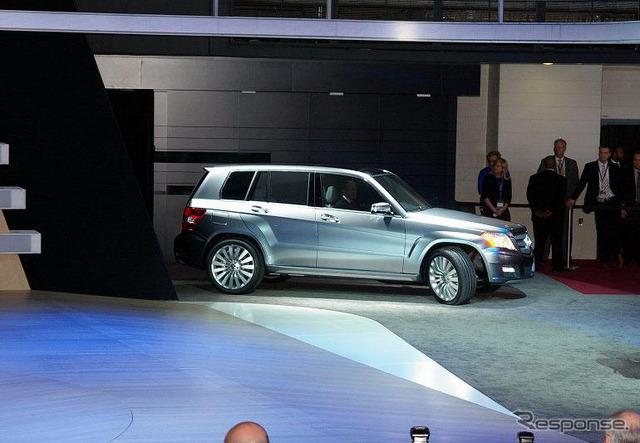 [08 ดีทรอยต์มอเตอร์แสดง] ลักษณะที่ปรากฏแบบไขว้กระชับ Mercedes GLK