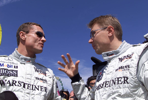 (Photo left) Coulthard and Hakkinen ( GP Japan )