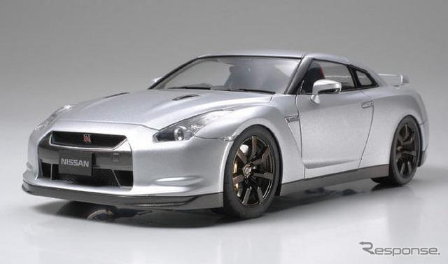 Nissan GT-R y lanzamiento de coche Tamiya modelo