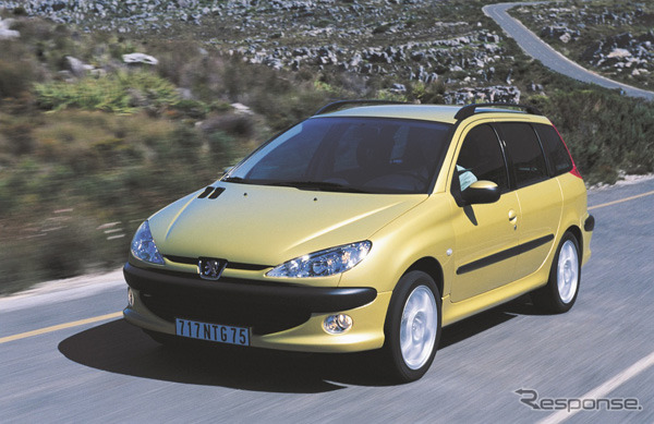 Not the UTA sits in Peugeot 206 family past and common sporting exercise and performance