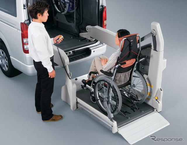 Carro de especificações de cadeira de rodas Welcab totalmente automatizada swing braço Elevador