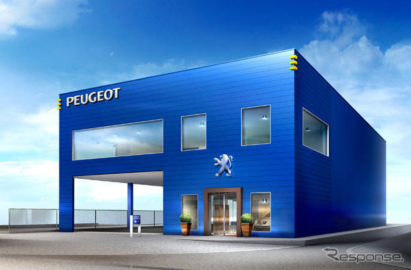 Announced that it is authorized dealer of Ferran Kobe Peugeot higashinada showroom established in Kobe, higashinada-Ku, Motoyama kitamachi Peugeot Citroën Japon is March commenced a 1 to