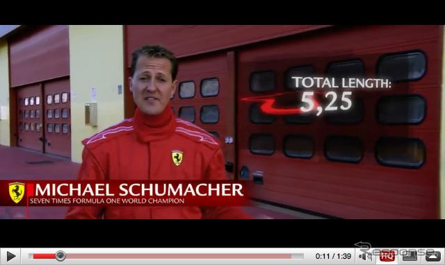 "Supervisor of the Ferrari, Michael Schumacher said ""430 Scuderia"" Italy Mugello circuit in test That pattern is exposed on video sharing sites"