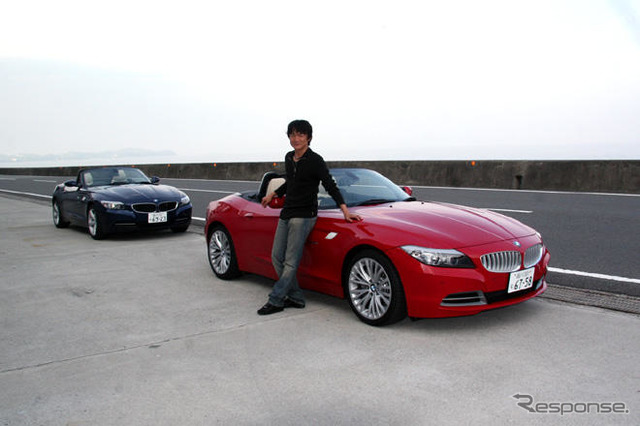 BMW Z4 and author