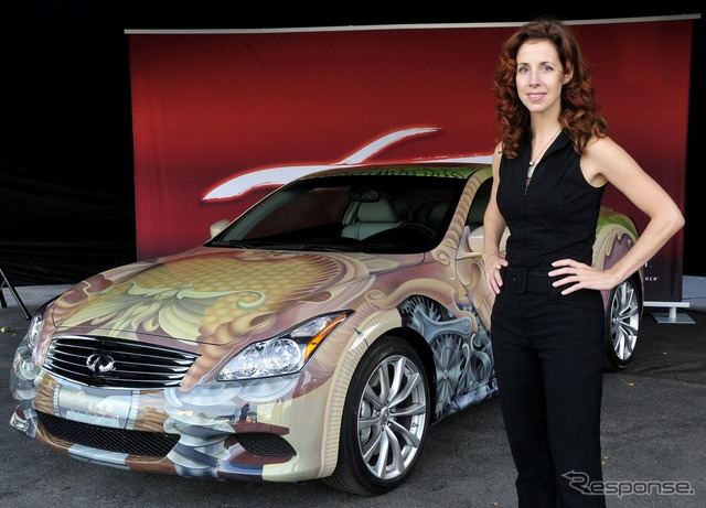 Infiniti G37 Coupé (Nissan Skyline Coupe) art car