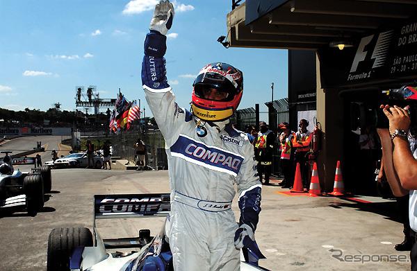 Montoya won the pole position at Brazil Grand Prix 2002