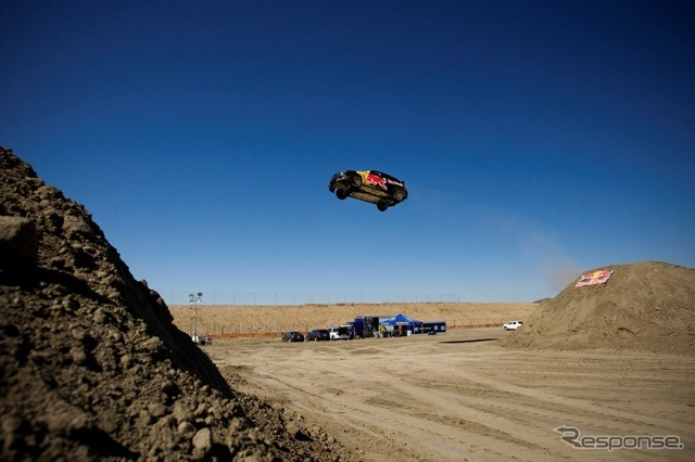 Jumping over Travis Pastrana