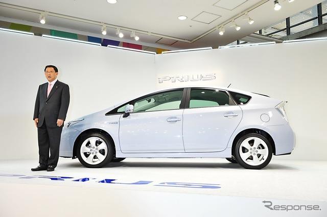 Toyota President to announce Prius ( then Deputy President 2009 )