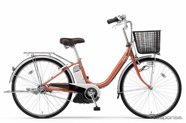 Cosmética de bicicletas con ayuda de motor de litio-T PAS Orange
