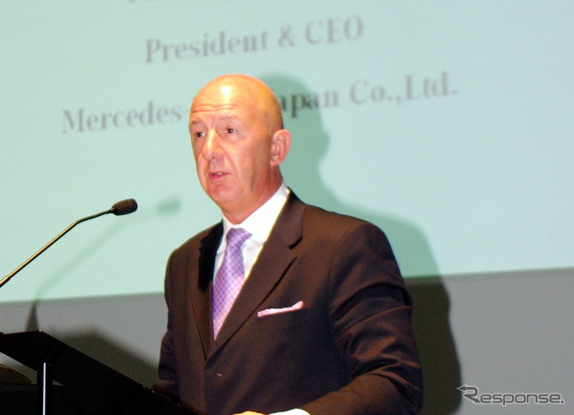 Mercedes-Benz Japan President Nicholas speaks