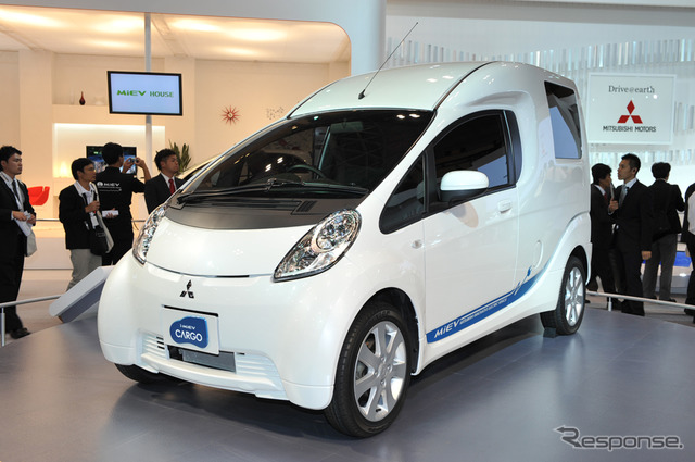 I-Miev cargo on the commercial EV concept unveiled at the Tokyo Motor Show
